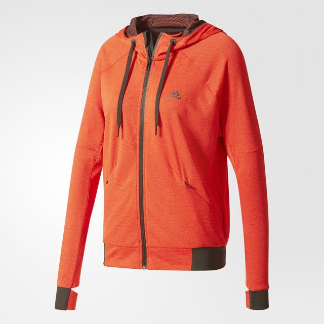 Damen Hoodie adidas Perf FZ Hoody Red | Sportega.at